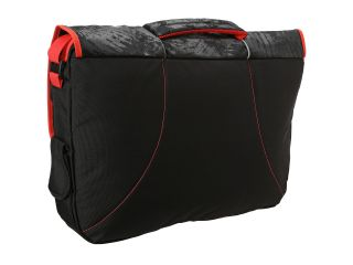 High Sierra Tank Messenger Bag Black Treads/Red Line