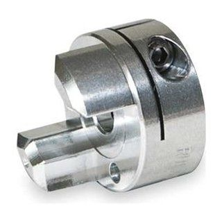 "Ruland JCC26 10 A Jaw Coupling Hub with Keyway, Clamp Style, Polished Aluminum, .625"" Bore, 1 5/8"" OD, 2 8/93"" Length, 3/16"" Keyway Spider Couplings"