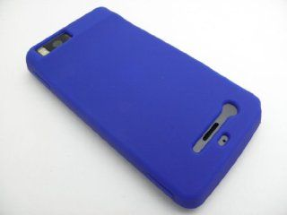 BLUE Soft Silicone Rubber Skin Cover Case for Motorola Droid X X2 / Milestone X / X2 In Twisted Tech Packaging Cell Phones & Accessories