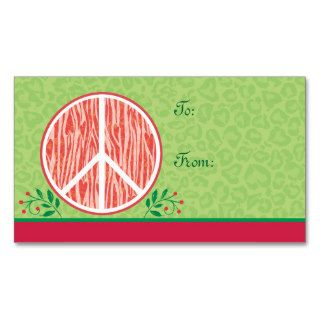 Christmas Peace Gift Tag Business Card Templates