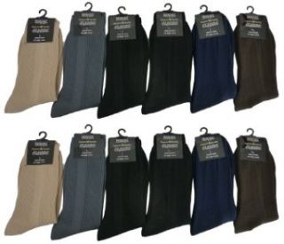 Royal Classic Mens Plain Nylon Dress Socks Cotton Blend Assorted 12 Pack. 10 13 at  Men's Clothing store