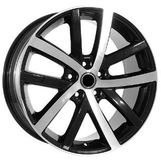 18 Inch Black Rims Volkswagen VW Wheels EOS Jetta GTI Golf CC Rabbitt Automotive