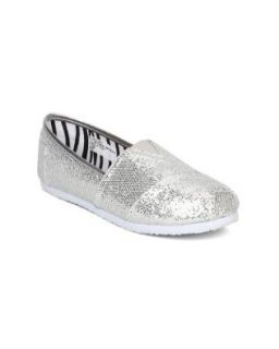 Little Angel Venus 651 Glitter Slip On Designer Flats (Toddler/Little Girl/Big Girl)   Silver Glitter (Size Toddler 9) Shoes
