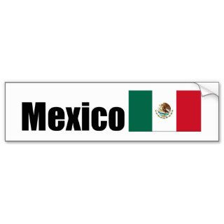 Mexico, Mexican flag Bumper Stickers