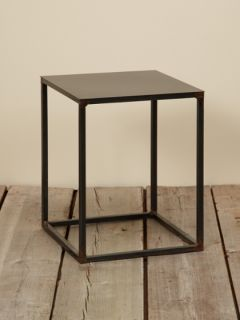 Small Square Metal Accent table by Canvas