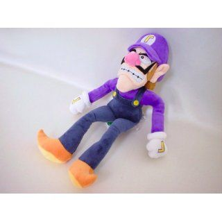 "Super Mario Plush   11"" Waluigi Soft Stuffed Plush Toy Japanese Import Toys & Games"