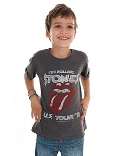 Amplified Kids Kid`s Rolling Stones Tour marl T Shirt Grey