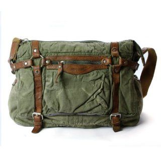 Messenger Satchel Shoulder Bags (Army green)  Diaper Tote Bags  Baby