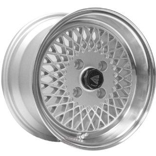 Enkei92 Classic Line 15x8 25mm Offset 4x100 Bolt Pattern Silver Wheel   Set of 4 Automotive