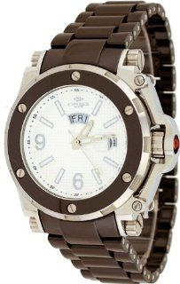 Oniss #ON670 M Men's Day/Date Sapphire Crystal White Dial Brown Ceramic Watch at  Men's Watch store.