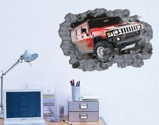 Peel N' Stick Giant Hummer Car Wall Decal Sticker Decor Boys Room   Fathead Wall Decal