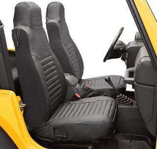 BesTop 29226 15 Jeep Wrangler Front Seat Covers   TJ / LJ   In Black Denim Automotive