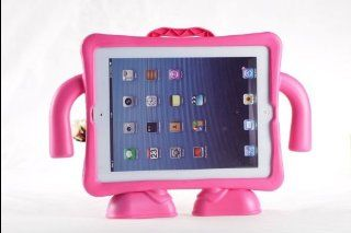 2013 New Cute Lovely Standing EVA Doll Cartoon with Strap Back Cover for Ipad 2 3 4 Shakeproof Cover EVA Portable Case Strap Doll EVA Case for Kids Partner (PINK) Cell Phones & Accessories