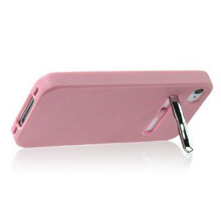 ZuGadgets Pink Candy Colors Soft Plastic Case Cover Shell Protective Skin with Stand for iPhone 4/4s (4474 1) Cell Phones & Accessories