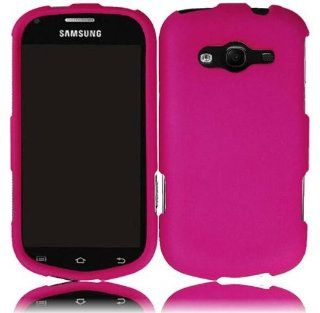 Samsung Galaxy Reverb M950 Hot Pink Rubberized Snap on Case Cell Phones & Accessories