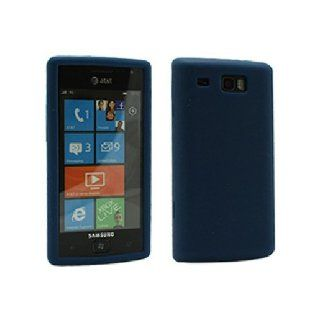 Blue Soft Silicone Gel Skin Cover Case for Samsung Focus Flash SGH I677 Cell Phones & Accessories