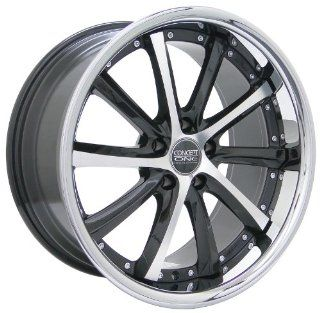 Concept One C 10 (Series 689) Black/Machined with Chrome Lip   19 x 8.5 Inch Wheel Automotive