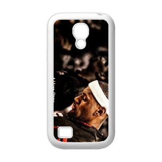 Custom Cover Dust proof Back Case Fit Samsung Galaxy S4 Mini i9192/i9198 Cellphone Printed Picture Of NBA Star lebron james Series Eight White Shell(TPU) Cell Phones & Accessories