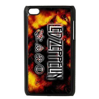 Custom Led Zeppelin Hard Back Cover Case for iPod Touch 4th IPT690 Cell Phones & Accessories