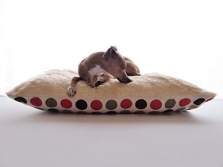 luxury faux fur fleece top dog bed by charley chau