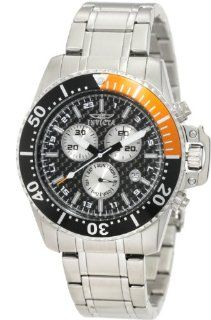 Invicta Men's 11282 Pro Diver Chronograph Black Carbon Fiber Dial Stainless Steel Watch Invicta Watches