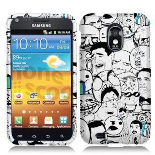Unique, Fun & Cool Hard Case for D710 R760 Samsung Galaxy SII Trendy Design Meme Memes Rage Cartoons Rage Comics Faceplate Cell Phones & Accessories