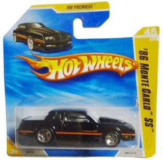 2010 Hot Wheels '86 MONTE CARLO SS HW Premiere #45 (black) INTERNATIONAL SHORT CARD Toys & Games