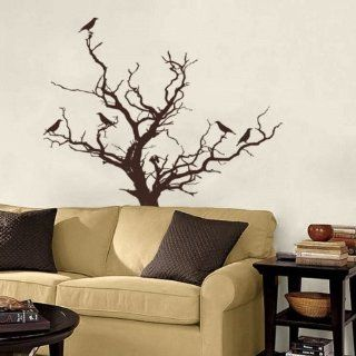 Stark Winter Tree with Birds Branch Branches Bird Home Art Decals Wall Sticker Vinyl Wall Decal Stickers Living Room Bed 714   Wall Decor Stickers