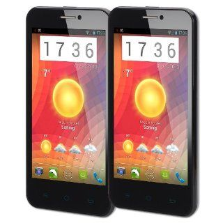 CUBOT GT99 Smartphone Mobile 3G Dual SIM Unlocked 4.5 inch Quad Core Android Color Black (pack of 2) Cell Phones & Accessories