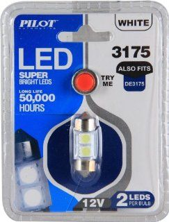 Pilot Automotive IL 3175W White 2 SMD LED Dome Light Bulb Automotive