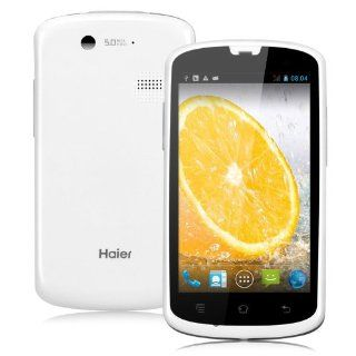 Haier Unlocked W718 Android 4.2 4.0 inch 1.2GHz Dual Core Dual SIM Card Dual Standby Dual Camera Bluetooth WiFi GPS 3G Cell Phone Smart Phone, Support Light, Gravity, Proximity sensor (White) Cell Phones & Accessories