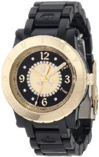 Juicy Couture Women's 1900846 HRH Black Plastic Bracelet Watch Watches
