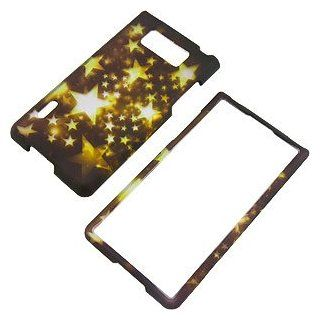 Gold Stars Protector Case for LG Splendor US730 / Optimus L7 Cell Phones & Accessories