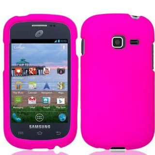 for Samsung Galaxy Discover SGH S730g (TracFone Straight Talk Net 10)   Pretty Pink Rubberized Hard Case Protective Snap On Cover + SportDroid Transparent/Clear Decal Cell Phones & Accessories