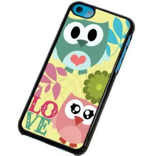 iphone 5C whimsical love owls Fashion Trend Design Case/Back cover Metal and Hard Plastic Case Cell Phones & Accessories