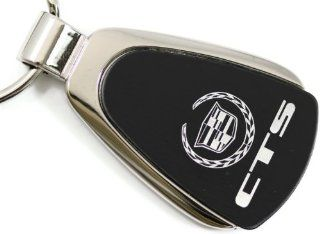 Cadillac CTS Black Teardrop Key Fob Authentic Logo Key Chain Key Ring Keychain Lanyard Automotive
