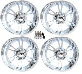 "ITP 14"" SS112 Chrome Golf Cart Wheels/Rims[14SS74] EZ GO/Club Car (4) Automotive"