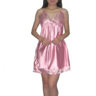 SILK COUTURE Womens Sexy Gorgeous Sleepwear Dress / Pajama Nightgown   Pink (Size S M )