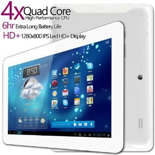 G Tab Iota Quad Core Android Tablet PC [10.1 Inch IPS, 8GB, Wi Fi, Bluetooth] (White)  Computers & Accessories