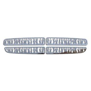 Ferreus Industries   1994 2004 Dodge Dakota Flame Polished Stainless Grille Insert   TRK 112 06 01 Automotive