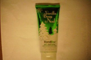 Bath and Body Works Anti Bacterial VANILLA BEAN NOEL Moisturizing Hand Lotion 2 FL OZ  Antibacterial Hand Cream  Beauty