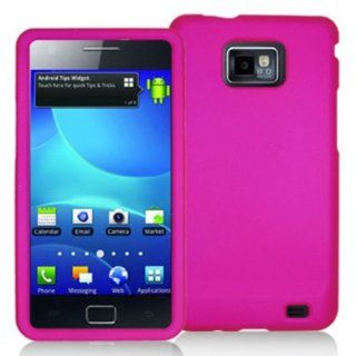 DECORO CRSAMI777HP Premium Protector Case for Samsung I777/I9100 (Galaxy S ll)   1 Pack   Retail Packaging   Rubber Hot Pink Cell Phones & Accessories
