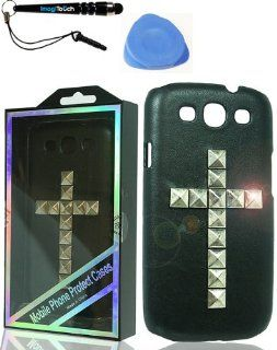 IMAGITOUCH(TM) 3 Item Combo Deluxe Stud Case Samsung Galaxy S 3 the Cross Victory Silver (Stylus pen, Pry Tool, Phone Cover) Cell Phones & Accessories