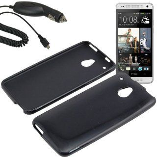 EagleCell Inc. TPU Sleeve Gel Cover Skin Case for AT&T HTC One Mini + Car Charger Black Cell Phones & Accessories