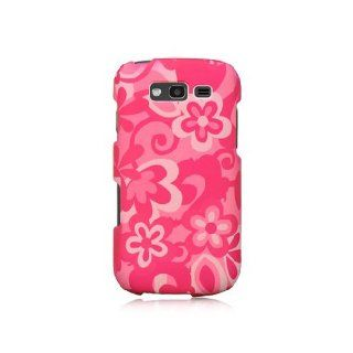 Hot Pink Pop Flower Hard Cover Case for Samsung Galaxy S Blaze 4G SGH T769 Cell Phones & Accessories