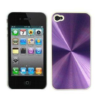 Purple Aluminum Hard Case / Cover / Shell for AT&T Apple iPhone 4 / 4G Cell Phones & Accessories