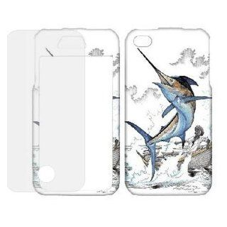 Samsung Galaxy s2 / sii sgh i777 Jumping Marlin Fish Boat ( FREE Anti Glare Screen Protector ) Snap On Cover, Hard Plastic Case, Protector   Retail Packaged Cell Phones & Accessories