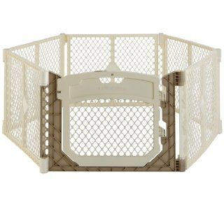 North States Superyard Ultimate Play Space Corral with Walkthrough Doorway   Ivory  Toys Games  Baby