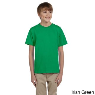Gildan Gildan Youth Ultra Cotton 6 ounce T shirt Green Size L (14 16)