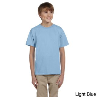 Gildan Gildan Youth Ultra Cotton 6 ounce T shirt Blue Size L (14 16)